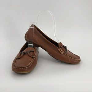 Hush Puppies brown buckle women loafers flats 6.5